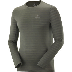 Salomon XA T-shirt Manches longues Homme, olive night/heather